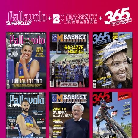 Abbonamento Multisport FULL 365Mountainbike + Pallavlolo SUPERVOLLEY + Basket Magazine