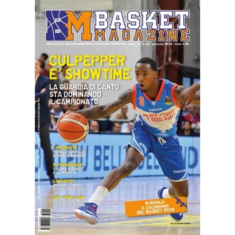 Basket Magazine n.42 Cartaceo Gennaio 2018